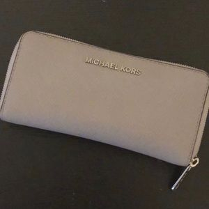 Michael Kors Gray Wallet - like new condition